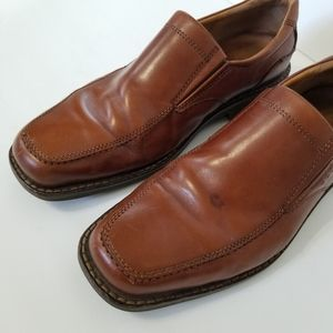 Ecco Shoes - Ecco Men's Brown Leather Loafers Shoes 44